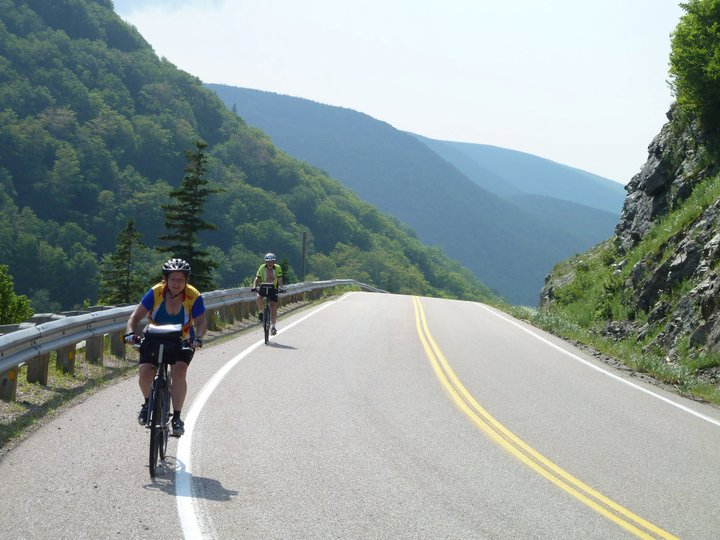 Cyclists on the Cabot Trail