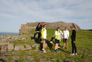 Bike tour guests visit The Aran Islands