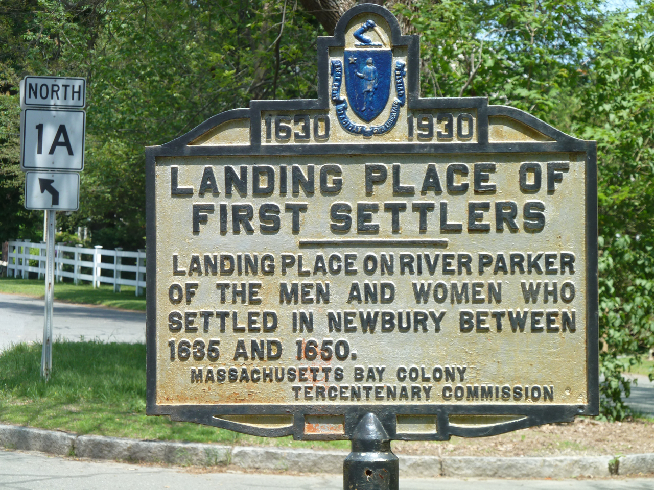 Landing place of the first settlers of Newbury